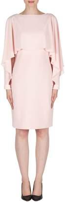 Joseph Ribkoff Pink Chiffon Overlay Dress Style 11261