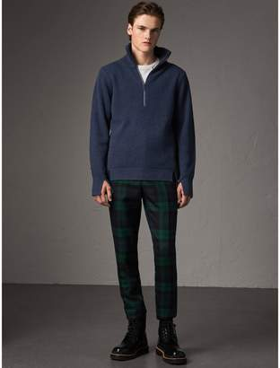 Burberry Zip Funnel-neck Wool Cashmere Sweater