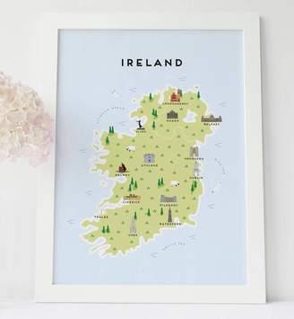 Pepper Pot Studios Map Of Ireland Print