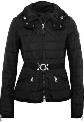 Moncler Belted Quilted Shell Jacket - Black