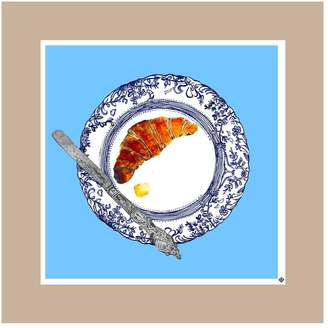 Jessica Russell Flint - The Croissant Plate Limited Edition Signed Print