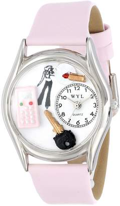 Whimsical Watches Women's S0420004 Teen Girl Pink Leather Watch