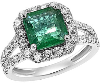 Diana M Fine Jewelry 18K 3.41 Ct. Tw. Diamond & Emerald Ring