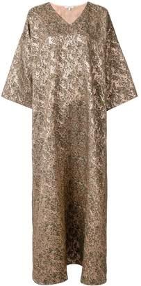 LAYEUR v-neck oversized dress