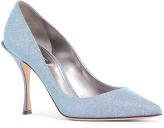 Dolce & Gabbana Metallic Pointy Toe Pump