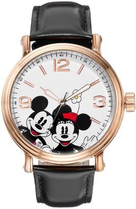 Disney Disney's Mickey & Minnie Mouse Unisex Leather Watch