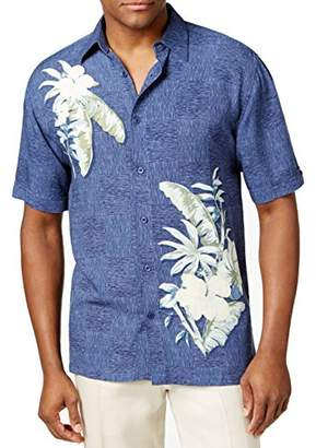 5f742526 at Amazon.com · Cubavera Men's Short Sleeve 100% Rayon Point-Collar  Tropical Floral Print Shirt