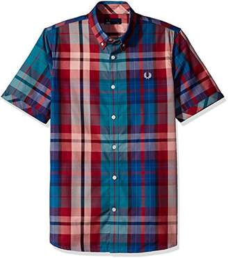 Fred Perry Bright Woven Short Sleeve Cotton Shirt