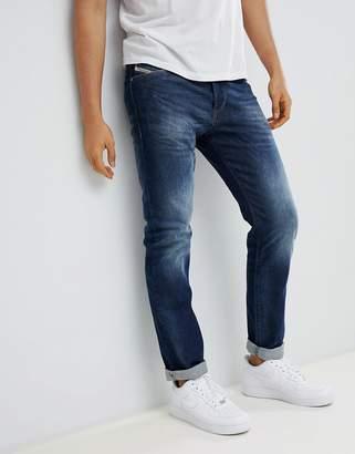 Diesel Buster Straight Jeans 853r Dark Blasted