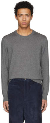 Maison Margiela Grey Elbow Patch Sweater