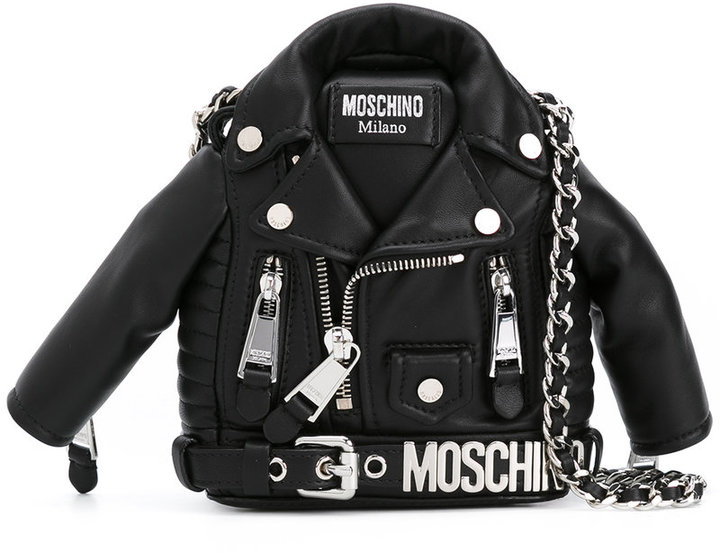 Moschino Moschino biker jacket shoulder bag