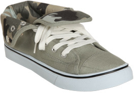 Wet Seal WetSeal Snap Foldover Sneaker Green