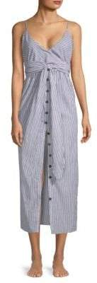 Mara Hoffman Thora Wrap Cotton Midi Dress