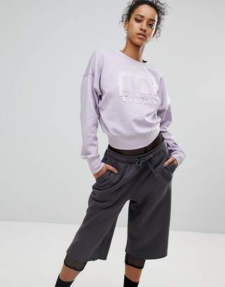 Ivy Park Sweatshirt With Embossed Logo In Lilac