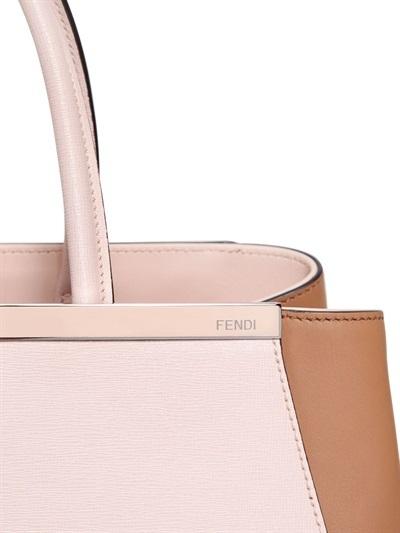 Fendi Medium 2jours Color Blocked Leather Bag