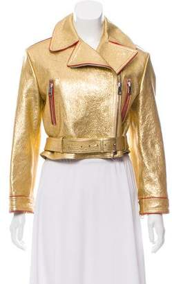 Gucci Leather Loved Jacket