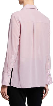 Nanette Lepore Nanette Long-Sleeve Button-Down Vented Shirt with Pocket