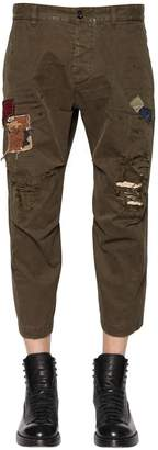 DSQUARED2 19cm Skipper Destroyed Twill Pants