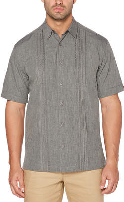 Cubavera Embroidered Panel Chambray Shirt