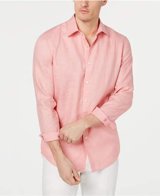 Tasso Elba Men Long-Sleeve Linen Shirt