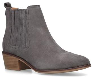 Nine West Grey 'Create' Mid Heel Ankle Boots