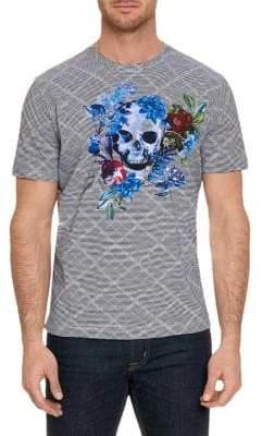 Robert Graham Naylor Skull Graphic T-Shirt