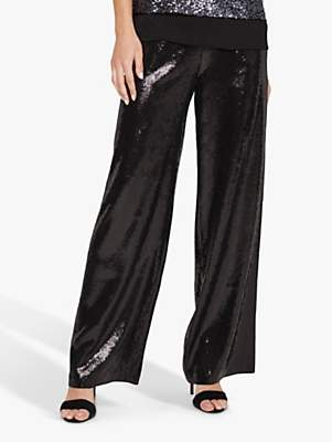 Sequin Kay Trousers, Black