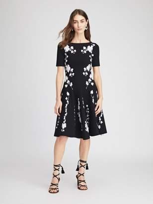 Oscar de la Renta Grape Vine Knit Dress