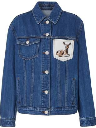Burberry Deer Motif Japanese Denim Jacket