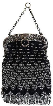 One Kings Lane Vintage Silver & Black Beaded Evening Bag