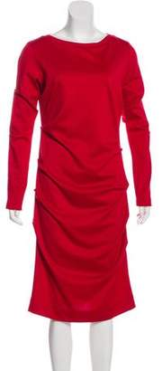 Nicole Miller Long Sleeve Midi Dress