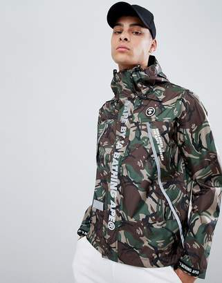 A Bathing Ape AAPE BY AAPE By camo jacket with reflective taping
