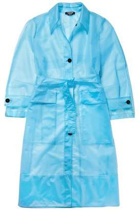 Calvin Klein Belted Plastic Raincoat