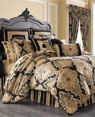 J Queen New York Bradshaw Black Queen 4-Pc. Comforter Set Bedding