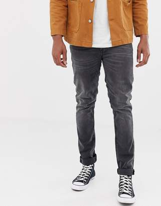 Nudie Jeans Lean Dean tapered jeans mono grey