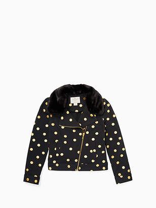 Kate Spade Girls dot moto jacket