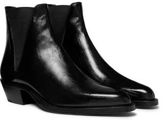 Saint Laurent Dakota Polished-Leather Chelsea Boots - Men - Black
