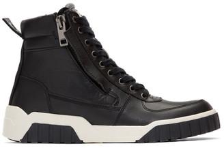 Diesel Black S-RUA Mid Sneakers