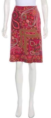 Etro Wool Pencil Skirt