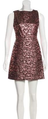 Alice + Olivia Metallic Sheath Dress
