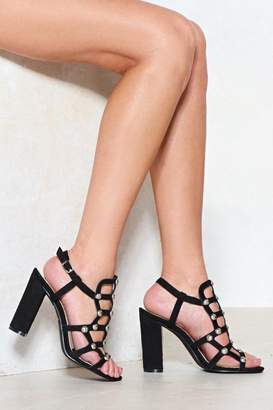 Nasty Gal You're on Our Cage Studded Heel