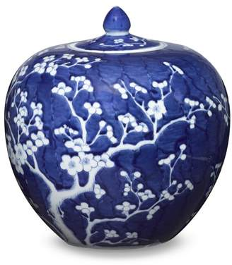Williams-Sonoma Blue & White Ginger Jar with Lid, Melon