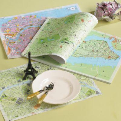 Map Place Mats -Set of 50