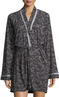 Cosabella Bella Cloud-Print Short Robe