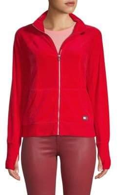 Tommy Hilfiger Velvet Raglan-Sleeve Jacket