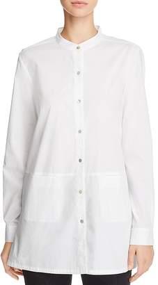 Eileen Fisher Band-Collar Tunic Shirt