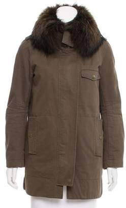 Yves Salomon Army by Fur Trimmed Short Coat