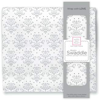 Swaddle Designs X-Large Cotton Muslin Swaddle Blanket Sterling Lillie