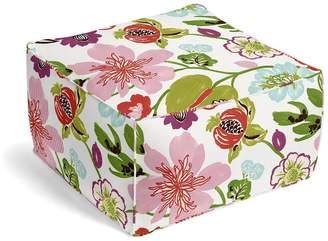 Loom Decor Square Pouf Garden Blooms - Rosebud