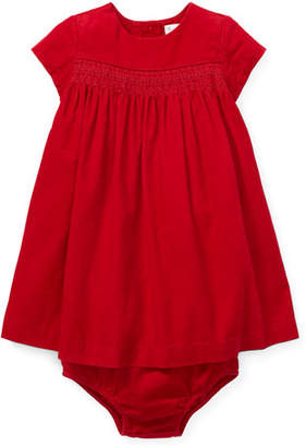 Ralph Lauren Corduroy Smocked Dress w/ Bloomers, Size 6-24 Months